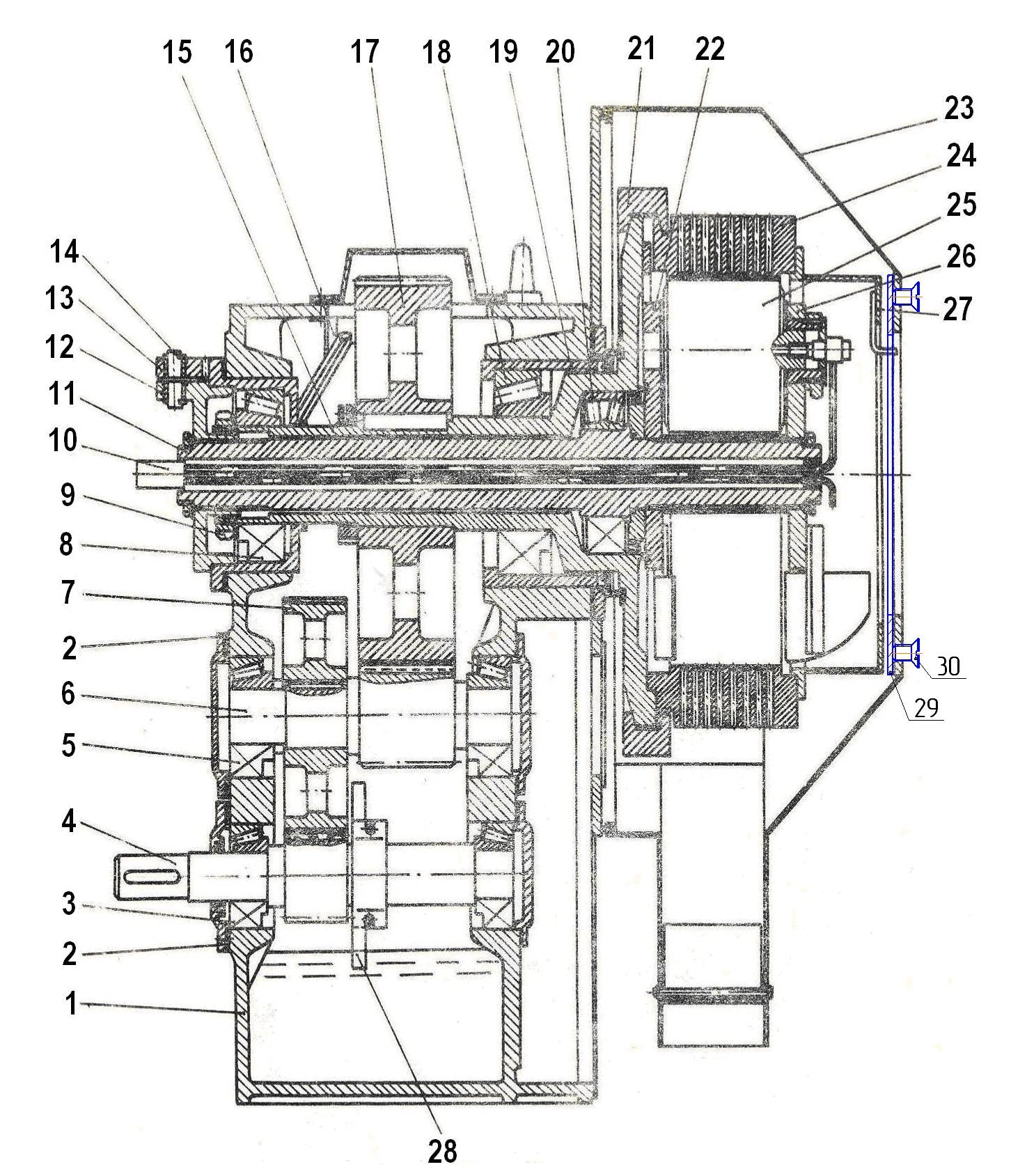 Схема гранулятора ОГМ-1,5